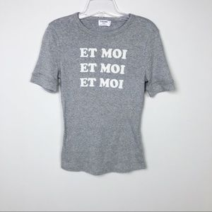 Frame Et Moi Fitted Crew Neck Tee Size XS